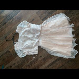 two piece home coming dress